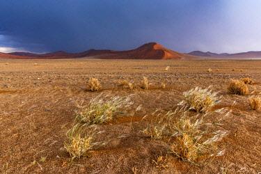 NAM6578AW Africa, Namibia, Sossusvlei area. Thunderstorm in the desert.