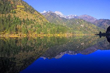 HMS2617921 China, Sichuan province, Jiuzhaigou National Park listed as World Heritage by UNESCO, Arrow Bamboo Lake
