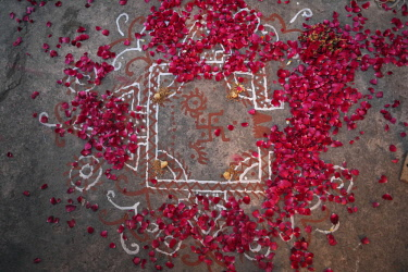 HMS2397694 India, Rajasthan, Jodhpur, a royal Rajasthani wedding between Param Vijay et Kamakshi Kumari, day 1, the groom is ready to face the wedding, 3 days of ceremonies are attended by hundreds of guests fro...