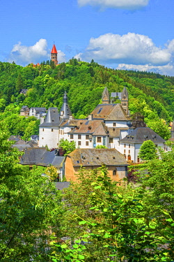 LUX0027AW View at Clervaux with castle, church and cloister, UNESCO World Heritage Site, Kanton Clervaux, Luxembourg