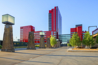 LUX0106AW RBC office building (Vasconi Associes Architectes) at Belval, Esch-sur-Alzette, Kanton Esch, Luxembourg