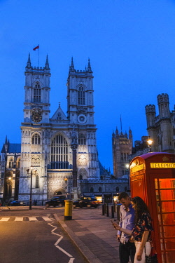 TPX66136 England, London, Westminster, Westminster Abbey at Night