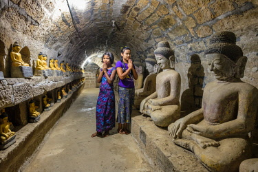 HMS3037643 Myanmar (Burma), Rakhine state (or Arakan state), archeological site of Mrauk U, ancient capital of Rakhine from the 15th to 18th century known as the Golden City, Shittaung pagoda built in 1535 by Ki...