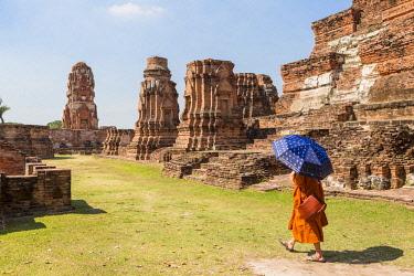 HMS3042813 Thailand, province of Phra Nakhon Si Ayutthaya, Ayutthaya, listed as World Heritage by UNESCO, Historical Park, Wat Mahathat
