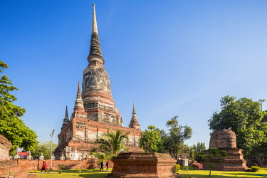 HMS3042836 Thailand, province of Phra Nakhon Si Ayutthaya, Ayutthaya, listed as World Heritage by UNESCO, Wat Yai Chai Mongkhon, chedi