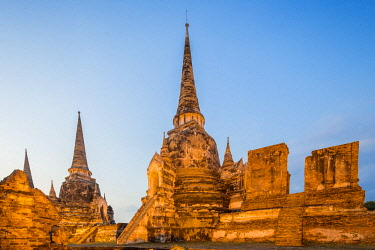 HMS3042844 Thailand, province of Phra Nakhon Si Ayutthaya, Ayutthaya, listed as World Heritage by UNESCO, Historical Park, Wat Phra Si Sanphet