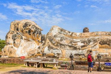 HMS3042850 Thailand, province of Phra Nakhon Si Ayutthaya, Ayutthaya, listed as World Heritage by UNESCO, Historical Park, Wat Lokayasutharam, Lying Buddha
