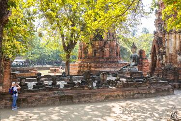 HMS3042857 Thailand, province of Phra Nakhon Si Ayutthaya, Ayutthaya, listed as World Heritage by UNESCO, Historical Park, Wat Mahathat