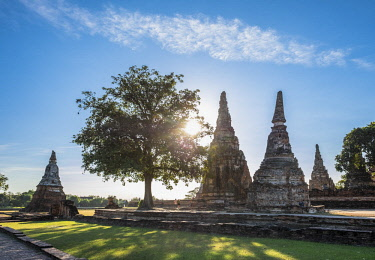 HMS3082830 Thailand, Ayutthaya province, Ayutthaya, Historical Park listed as World Heritage by UNESCO, Wat Chai Watthanaram