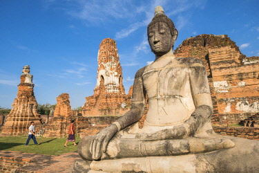 HMS3082843 Thailand, Ayutthaya province, Ayutthaya, Historical Park listed as World Heritage by UNESCO, Wat Mahathat