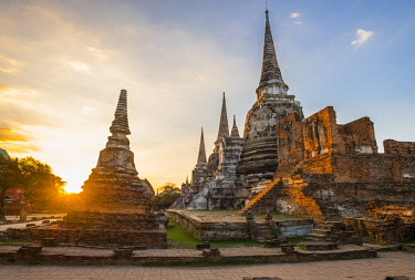 HMS3082849 Thailand, Ayutthaya province, Ayutthaya, Historical Park listed as World Heritage by UNESCO, Wat Phra Sri Samphet