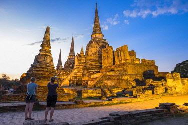HMS3082850 Thailand, Ayutthaya province, Ayutthaya, Historical Park listed as World Heritage by UNESCO, Wat Phra Sri Samphet