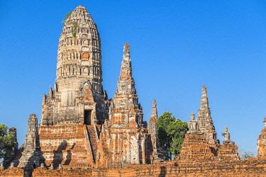 HMS3082856 Thailand, Ayutthaya province, Ayutthaya, Historical Park listed as World Heritage by UNESCO, Wat Chai Watthanaram