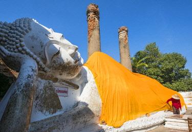 HMS3082861 Thailand, Ayutthaya province, Ayutthaya, Historical Park listed as World Heritage by UNESCO, Wat Yai Chai Mongkhon