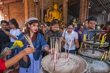 HMS3082863 Thailand, Ayutthaya province, Ayutthaya, Historical Park listed as World Heritage by UNESCO, Wat Yai Chai Mongkhon
