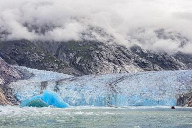 USA13762 USA, Endicott Arm, Alaska. Dawes Glacier is an impressive tidewater glacier at the end of the beautiful steep-sided fjord of Endicott Arm.