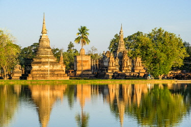 HMS3089323 Thailand, Sukhothai province, Sukhothai Historical Park listed as World Heritage by UNESCO, Wat Mahathat