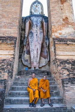 HMS3089338 Thailand, Sukhothai province, Sukhothai Historical Park listed as World Heritage by UNESCO, Wat Mahathat