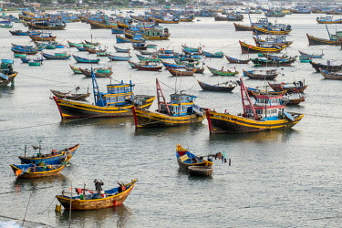 HMS2479788 Vietnam, Binh Thuan province, Mui Ne, the fishing port