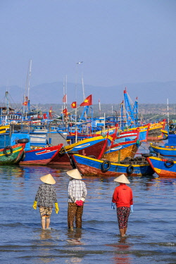 HMS2506653 Vietnam, South Central Coast region, Mui Ne fishing village, return from fishing