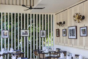 CM02176 Cambodia, Siem Reap, FCC Angkor, Foreign Correspondents Club Hotel, restaurant interior