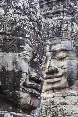 CM02194 Cambodia, Angkor, Angkor Thom, Bayon Temple, face of Avalokiteshvara