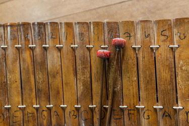 CM02233 Cambodia, Battambang, Phar Ponleu Selpak, roneat, traditional Khmer xylophone, ER