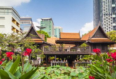 TH01546 Thailand, Bangkok, Silom Area, MR Kukrit Pramoj House, home of former Thai Prime Minister, exterior