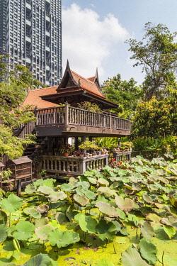 TH01547 Thailand, Bangkok, Silom Area, MR Kukrit Pramoj House, home of former Thai Prime Minister, exterior