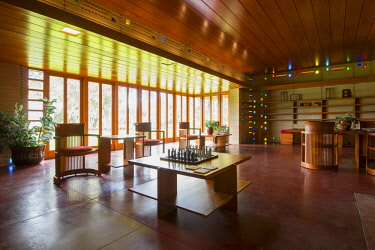 "US11943 Florida, Lakeland, Usonian House, Designed By Architect Frank Lloyd Wright, Florida Southern College, The College Has The Largest And Most Fully Articulated Collection of Wright's Work In The World, ""..."