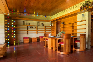 "US11945 Florida, Lakeland, Usonian House, Designed By Architect Frank Lloyd Wright, Florida Southern College, The College Has The Largest And Most Fully Articulated Collection of Wright's Work In The World, ""..."