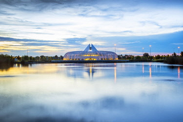 US11949 Florida, Lakeland, Innovation, Science, and Technology Building, Florida Polytechnic University, Designed By Spanish Architect Santiago Calatrava, Polk County