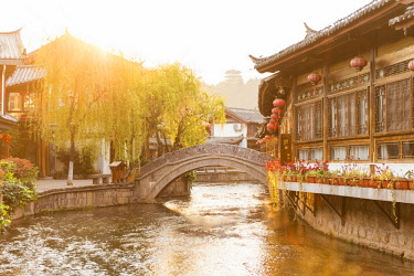 Lijiang at sunset, Yunnan, China, Asia