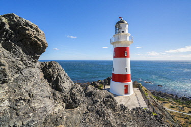 CLKFV89772 Cape Palliser lighthouse, Cape Palliser, Wellington region, North Island, New Zealand.