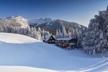CLKCC92000 nice winter day at Cerreto Pass, municipality of Ventasso, Reggio Emilia Province, Emilia Romagna District, northen  Italy