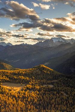 CLKFM90517 Mount Marmolada at sunset,Rocca Pietore,Belluno district, Veneto, Italy