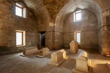 Tomb of Shirvanshahs family (1435-1436). The Palace of the Shirvanshahs (Sirvansahlar Sarayi) dates back to the 15th century. A Unesco World Heritage Site, Baku. Azerbaijan