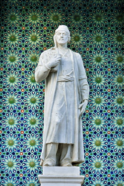 AZE0134AW Nizami Ganjavi (1141-1209) was a 12th-century Persian Muslim poet. He is considered the greatest romantic epic poet in Persian literature. He was born in Ganja (modern-day Azerbaijan). Nizami Museum o...