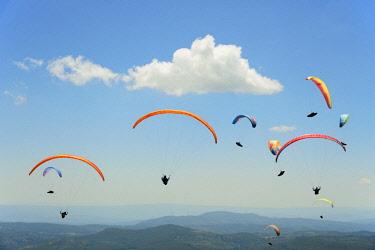 POR9828AW National Paragliding Championship, Larouco Mountain, Montalegre. Tras os Montes, Portugal