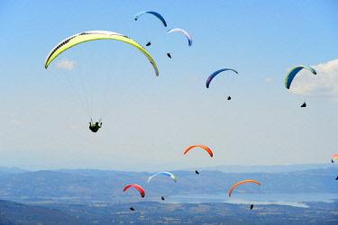 POR9830AW National Paragliding Championship, Larouco Mountain, Montalegre. Tras os Montes, Portugal