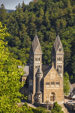 LX01092 Luxembourg, Clervaux, Parish Church of Clervaux also known as Church of Saints Cosma and Damien