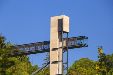 LX01131 Luxembourg, Luxembourg City, Pfaffenthal district, Pfaffenthal glass elevator historic district of Pfaffenthal and the upper city of Luxembourg