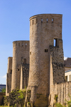 LX01168 Luxembourg, Luxembourg City, Rham Plateau, Medieval Watchtowers
