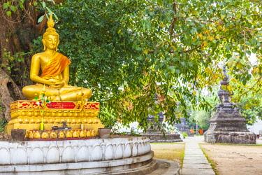 LS02064 Laos, Luang Prabang, Wat Wisunarat, golden buddha