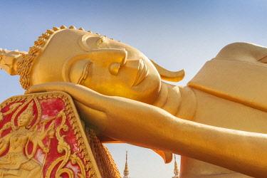 LS02125 Laos, Vientiane, Wat That Luang Tai, reclining Buddha
