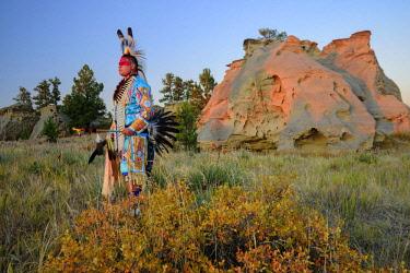 USA13867AW North America, USA, Great Plains, Montana, Medicine Rocks, State Park, Lakota