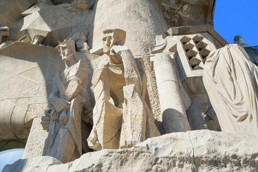 SPA8163AW Passion Facade, Sagrada Familia Basilica, Barcelona, Catalonia, Spain