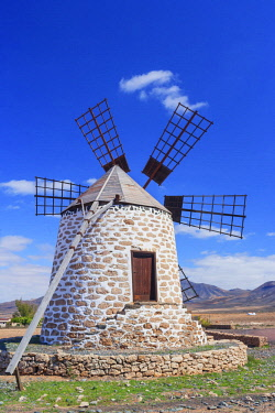 SPA8166AW Traditional windmill, Fuerteventura, Canary Islands, Spain,