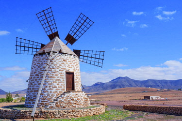 SPA8167AW Traditional windmill, Fuerteventura, Canary Islands, Spain,