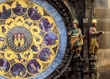 CZE2040AW Astronomical Clock, Old Town Hall, Prague, Bohemia Region, Czech Republic